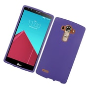 Insten Hard Rubber Coated Cover Case For LG G4 - Purple
