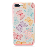 """Insten Butterfly Hard Hybrid Dual Layer TPU Case For Apple iPhone 7 Plus (5.5"""")- Pink"""