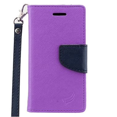Insten Leather Case with Photo Display & Lanyard For ZTE Paragon/Sonata 2/Zephyr - Purple/Blue