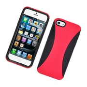 Insten Dual Layer Hybrid TPU Rubber Candy Skin Case Cover for Apple iPhone 5 / 5S - Red/Black