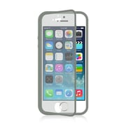 Insten Wrap-Up TPU Rubber Skin Gel Case w/Screen Protector For Apple iPhone 5 / 5S - Gray
