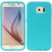 Insten Wrap-Up TPU Rubber Skin Gel Case w/Screen Protector For Samsung Galaxy S6 - Blue