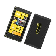 Insten Dual Layer Hybrid TPU Rubber Candy Skin Case Cover for Nokia Lumia 920 - Black