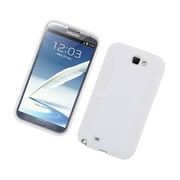 Insten Dual Layer Hybrid TPU Rubber Candy Skin Case Cover for Samsung Galaxy Note II - White