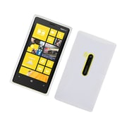 Insten Dual Layer Hybrid TPU Rubber Candy Skin Case Cover for Nokia Lumia 920 - White