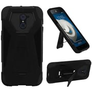 Insten Hard Dual Layer Plastic Silicone Case with stand For ZTE Kirk - Black
