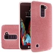 Insten Hard Hybrid Glitter TPU Cover Case For LG K10 / Premier LTE - Red