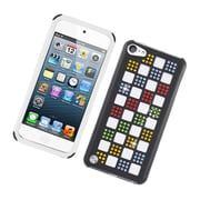 Insten Checker Hybrid Silicone/PC Case Cover with Diamond for Apple iPod Touch 5th Gen - Black/White/Colorful