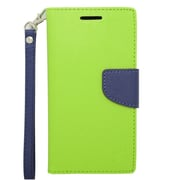 Insten Wallet Leather Stand Case with Lanyard & Card slot For HTC Desire 510 - Green/Blue