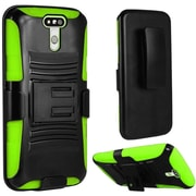 Insten Hard Hybrid Plastic Silicone Case w/Holster For LG G5 - Black/Green