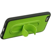 Insten TPU Black Frame Leather Tongue Stand Rubber Skin Case For Apple iPhone 6 / 6s - Green