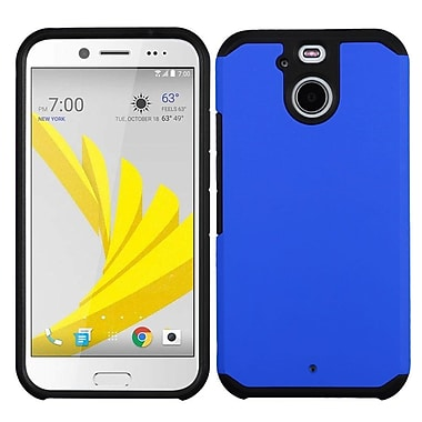 Insten Hard Hybrid Rubber Coated Silicone Cover Case For HTC Bolt - Blue/Black