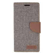 Insten Book-Style Leather Fabric Stand Card Case w/ Photo Display for Samsung Galaxy Note 5 - Gray/Brown