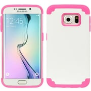 Insten Hybrid Dual Layer Hard PC/TPU Case Cover For Samsung Galaxy S6 Edge - White/Pink