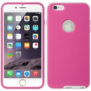 Insten Hybrid Dual Layer Hard PC/TPU Case Cover For Apple iPhone 6s Plus / 6 Plus - Hot Pink/White