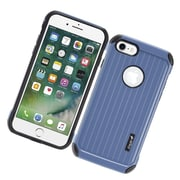 Insten Carry On Hybrid Dual Layer Rubberized Hard Silicone Protective Case Cover For Apple iPhone 7 - Blue/Black