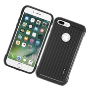 Insten Carry On Hybrid Dual Layer Rubberized Hard Silicone Protective Case Cover For Apple iPhone 7 Plus - Black