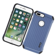 Insten Carry On Hybrid Dual Layer Rubberized Hard Silicone Protective Case Cover For Apple iPhone 7 Plus - Blue/Black