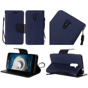 Insten Folio Leather Case with Lanyard For ZTE Kirk - Blue/Black
