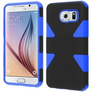 Insten Dynamic Hard Dual Layer Silicone Cover Case For Samsung Galaxy S6 - Black/Blue
