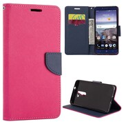 Insten Diary Leather Wallet Flip Card Pocket Stand Case Cover For ZTE Kirk - Hot Pink/Blue