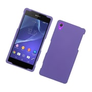 Insten Hard Rubberized Case For Sony Xperia Z2 - Purple