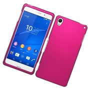 Insten Hard Rubberized Case For Sony Xperia Z3 - Hot Pink