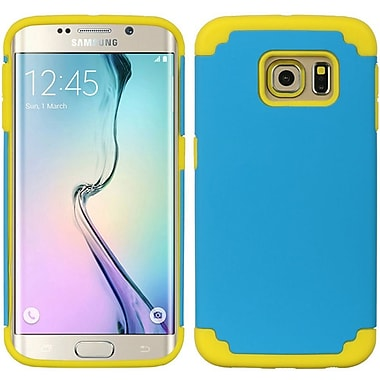 Insten Hybrid Dual Layer Hard PC/TPU Case Cover For Samsung Galaxy S6 Edge - Blue/Yellow