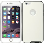 Insten Hybrid Dual Layer Hard PC/TPU Case Cover For Apple iPhone 6s Plus / 6 Plus - White/Black