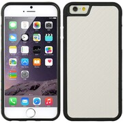 Insten TPU Rubber Skin Gel Case Cover For Apple iPhone 6s Plus / 6 Plus - White/Black