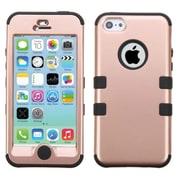 Insten Tuff Hard Hybrid Rubber Silicone Case For Apple iPhone 5C - Rose Gold/Black
