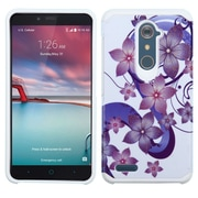 Insten Hibiscus Flower Romance Hard Case For ZTE Grand X Max 2 / Imperial Max / Kirk / Max Duo 4G / Zmax Pro - Purple