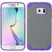 Insten Hybrid Dual Layer Hard PC/TPU Case Cover For Samsung Galaxy S6 Edge - Gray/Purple