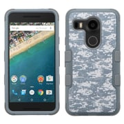 Insten Tuff Camouflage Hard Dual Layer Silicone Case For LG Google Nexus 5X - Gray/Black