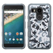 Insten Tuff Camouflage Hard Hybrid Rubberized Silicone Case For LG Google Nexus 5X - Gray/Black