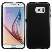 Insten Frosted Ultra Thin Rubber Skin Case For Samsung Galaxy S6 , Black