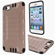 Insten Hard Dual Layer Rubber Silicone Cover Case For Apple iPhone 5/5S/SE - Gold/Black