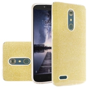 Insten Hard Dual Layer Glitter TPU Case For ZTE Carry / Zmax Pro - Gold