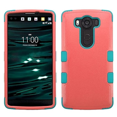 Insten Tuff Hard Hybrid Rubber Coated Silicone Case For LG V10 - Hot Pink/Teal