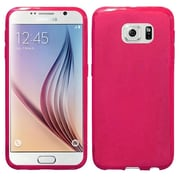 Insten Frosted Ultra Thin Rubber Case For Samsung Galaxy S6 , Hot Pink