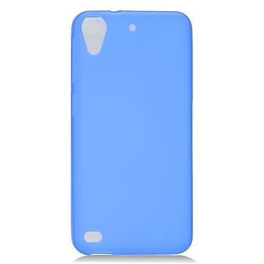 Insten Transparent Frosted TPU Rubber Candy Skin Case Back Cover For HTC Desire 530 - Blue