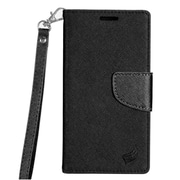 Insten PU Leather Wallet Flip Pouch Credit Card Stand Cover Case For HTC Bolt - Black