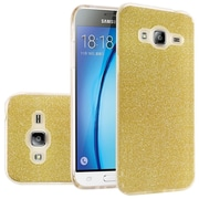 Insten Hard Hybrid Glitter TPU Cover Case For Samsung Galaxy Amp Prime/J3 (2016)/Sky/Sol - Gold