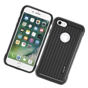 Insten Carry On Hybrid Dual Layer Rubberized Hard Silicone Protective Case Cover For Apple iPhone 7 - Black