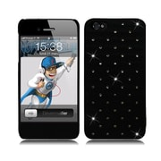 Insten Hard Rubber Case with Diamond for iPhone 5S 5 SE - Black