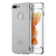 Insten Skyfall Transparent TPU Case with Electroplated Upper Lower Frame For Apple iPhone 7 Plus - Clear/Gray