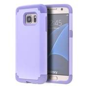 Insten Hybrid Hard TPU Dual Layer Cover Shockproof Case For Samsung Galaxy S7 - Lavender