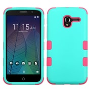 Insten Tuff Hard Hybrid Silicone Cover Case For Alcatel Stellar / Tru - Teal/Pink