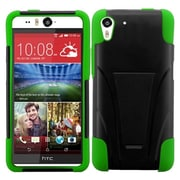 Insten Black/Neon Green Hybrid Hard Shockproof Silicone Dual Layer Protective Stand Case Cover For HTC Desire Eye