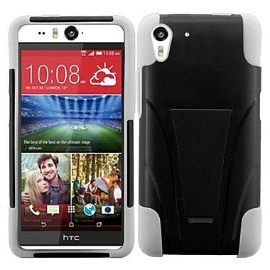 Insten Black/White Hybrid Hard Shockproof Silicone Dual Layer Protective Stand Case Cover For HTC Desire Eye